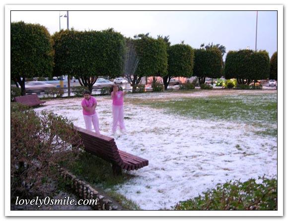 صور من الأمطار والثلوج في أبها