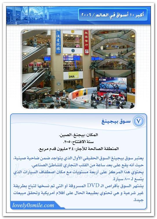 أكبر 10 أسواق في العالم