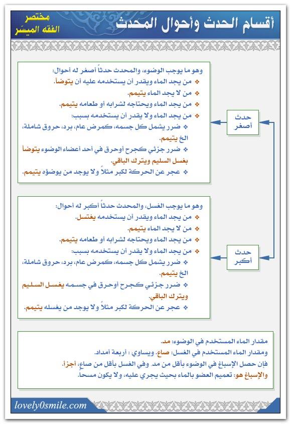 أقسام الحدث وأحوال المحدث