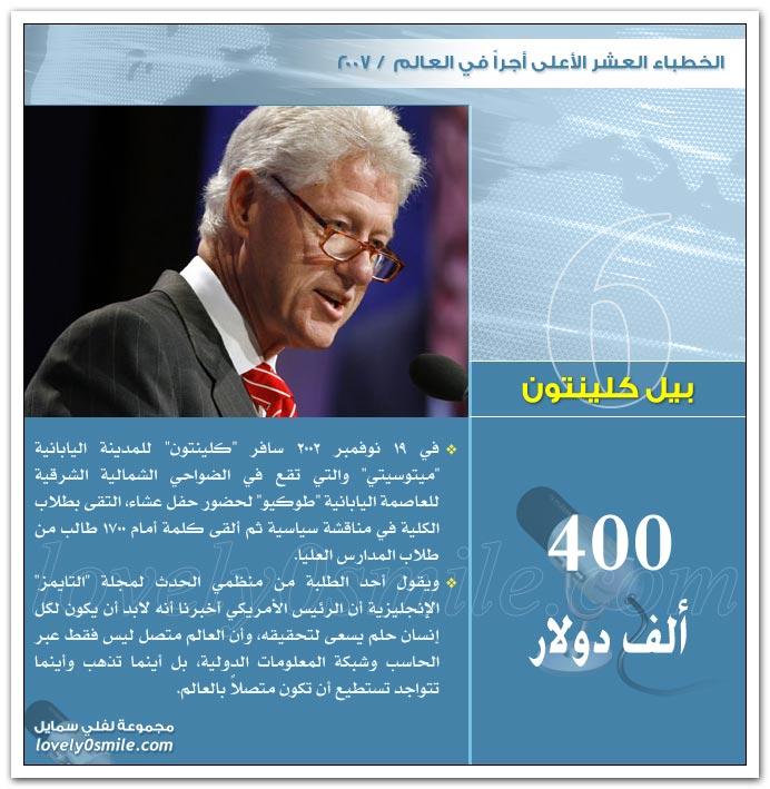 الخطباء العشر الأعلى أجراً في العالم 2007