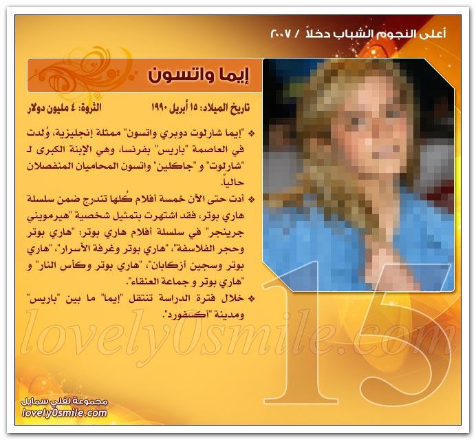 أعلى النجوم الشباب دخلاً 2007 ج2