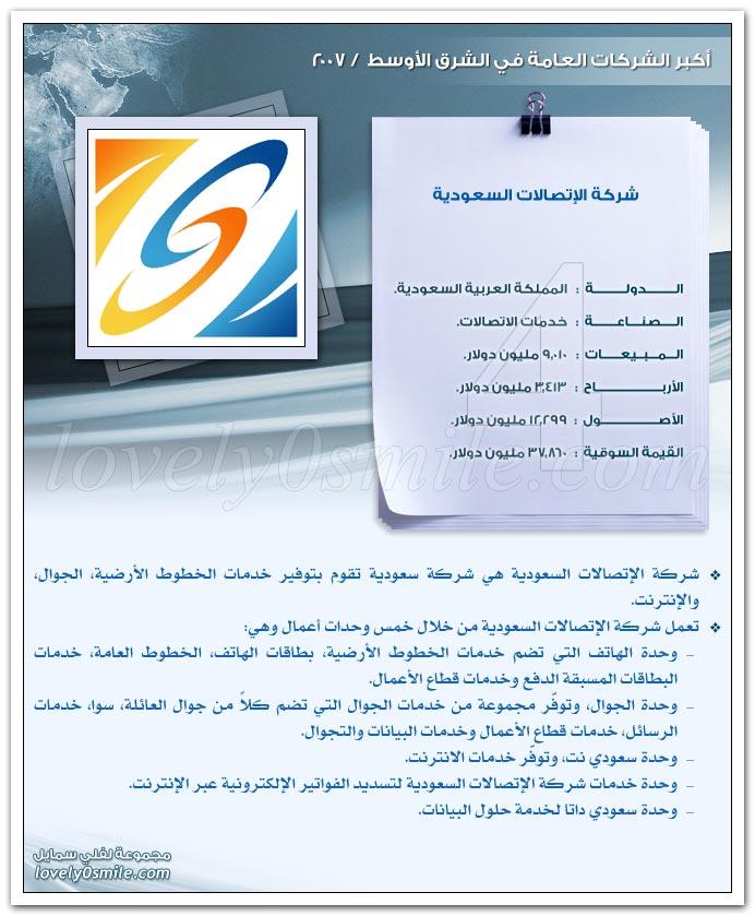 أكبر الشركات العامة في الشرق الأوسط 2007 ج1