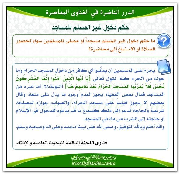 حكم دخول غير المسلم للمسجد