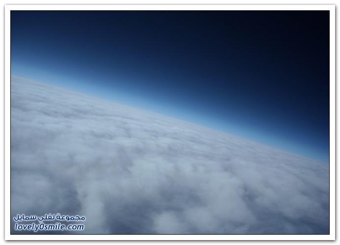 صور من ارتفاع 30,000 متر