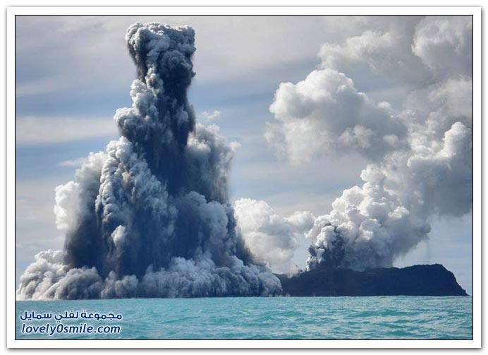 بِـرْكَـآنْ تَحْتْ سَطْحْ اَلْمَآءْ ... :| T06-eruptions-near-tonga