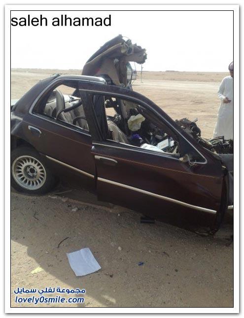 صور حادث معلم حفر الباطن مؤثر جدا