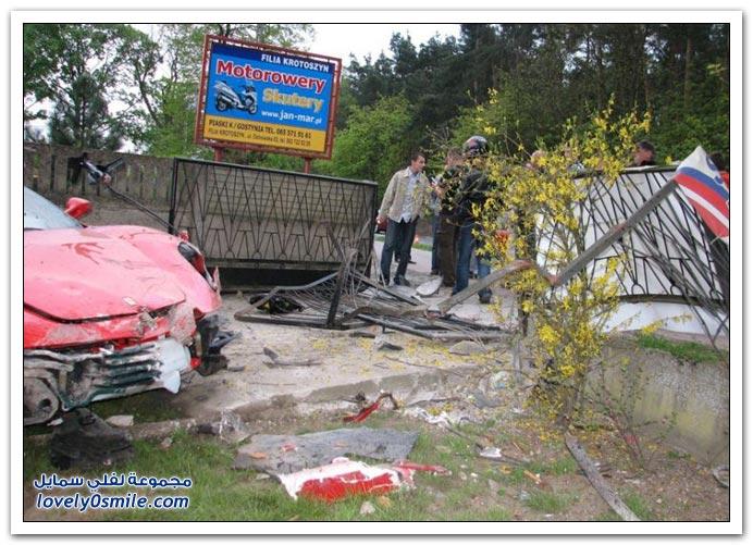 صور حادث فيراري