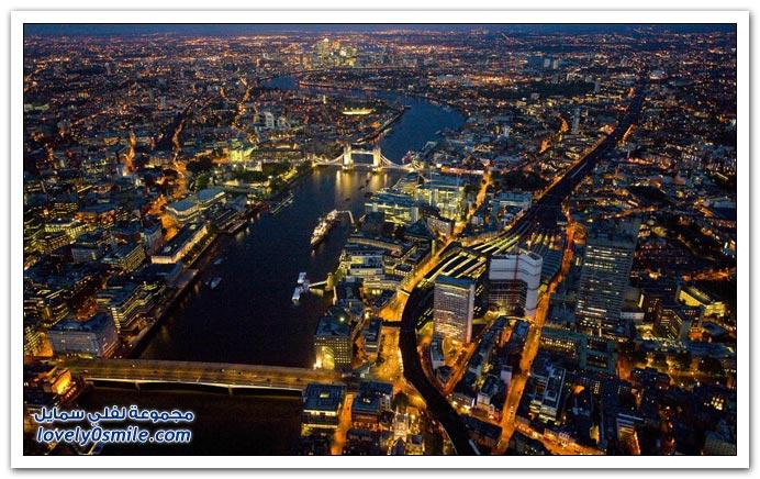 صور مدينة الضباب لندن ليلاً