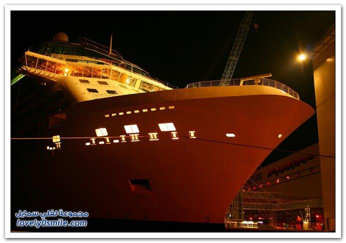 صور أكبر سفينة سياحية في ألمانيا