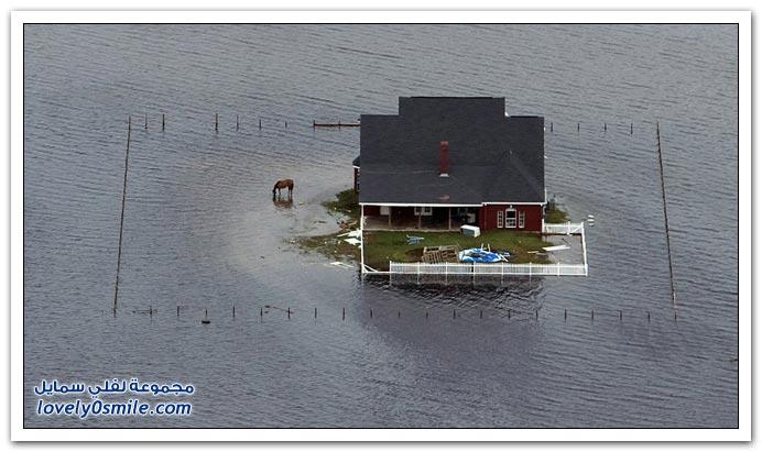 صور من الدمار الذي أحدثه إعصار آيك في سبتمبر لعام 2008