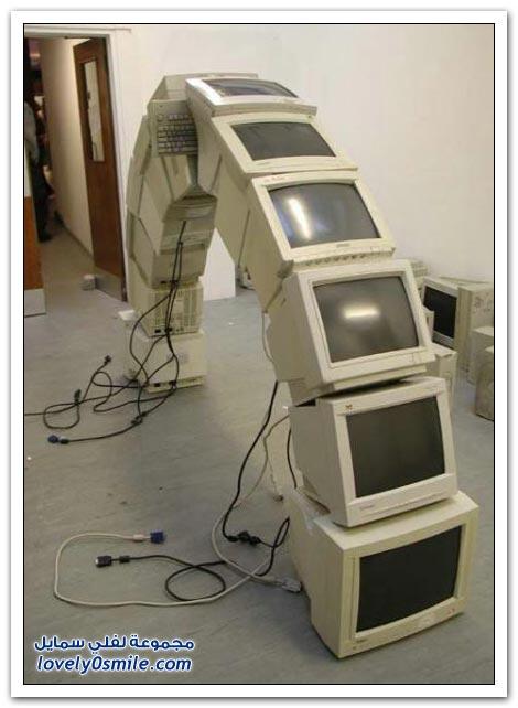 صور أشكال وأفكار غريبة للكمبيوتر