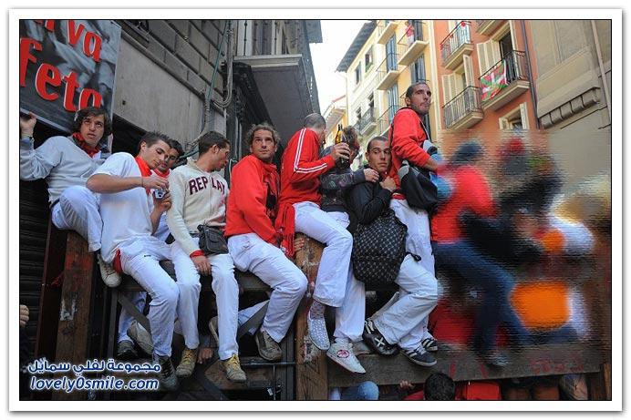 صور مهرجان سان فيرمان 2009 في أسبانيا + فيديو