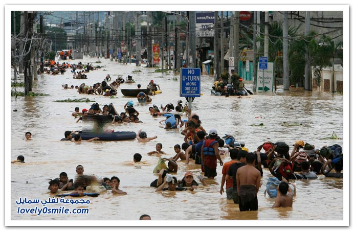 صور آثار الإعصار Ketsana في الفلبين المعروف لديهم بإسم Ondoy