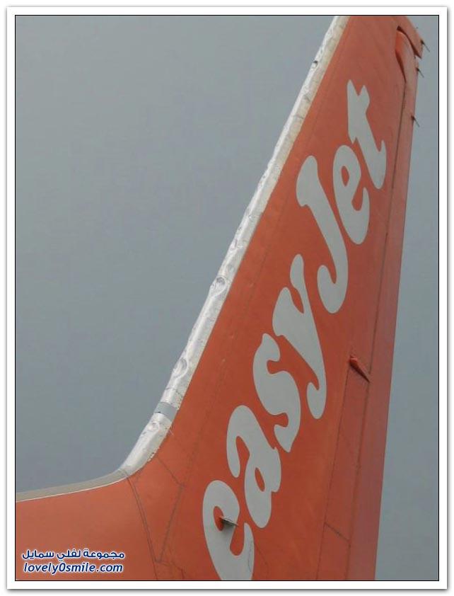 صور آثار البرد على الطائرة