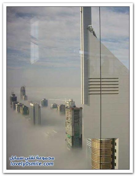 صور: دبي في الضباب