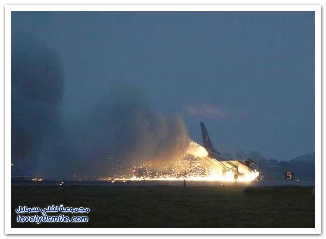 صور هبوط اضطراري لطائرة حربية