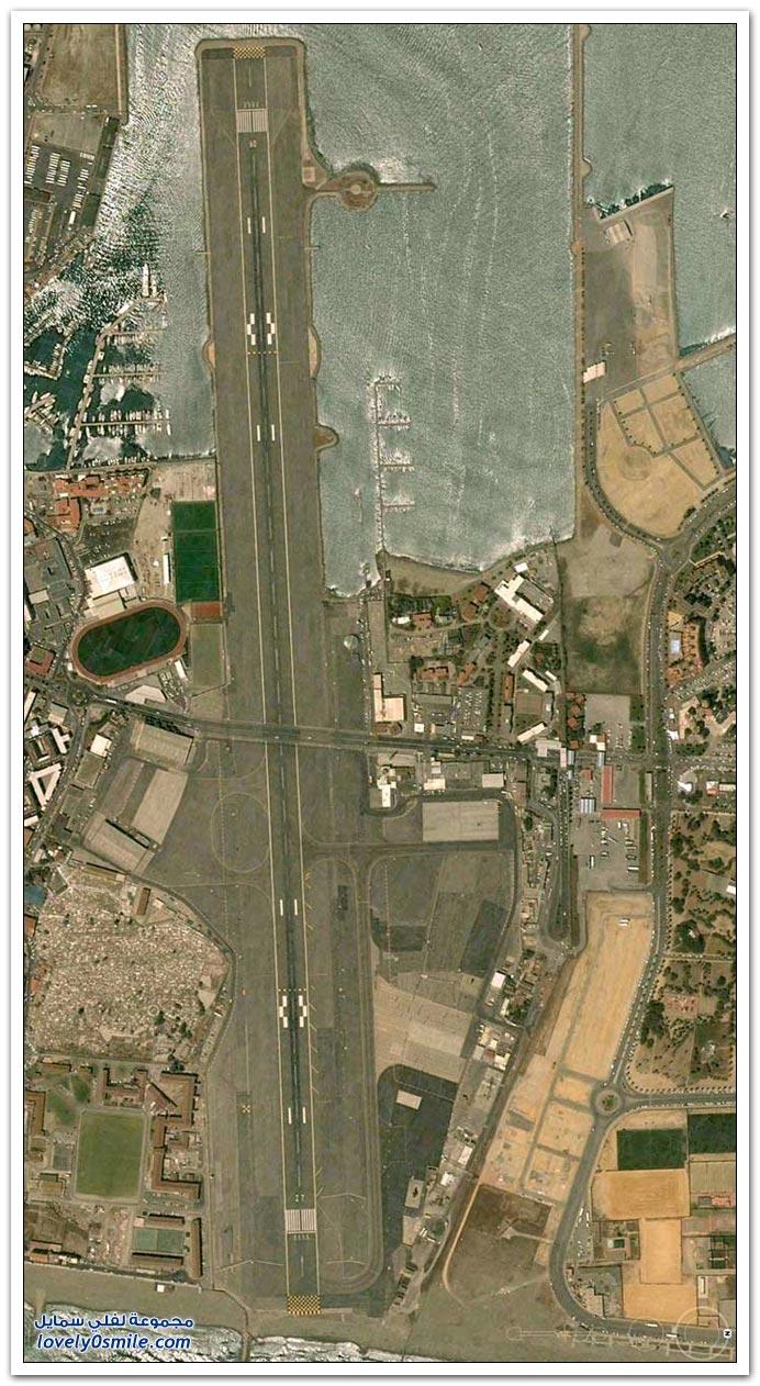 صور من مطار جبل طارق