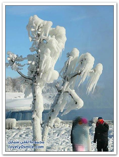 صور شلالات نياجرا في فصل الشتاء