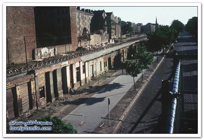 صور نادرة قبل إزالة جدار برلين