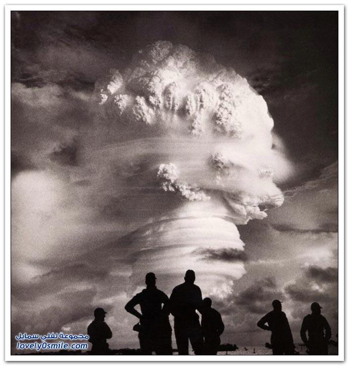صور من التجارب النووية