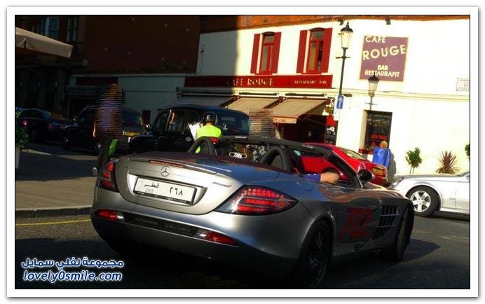صور سيارات خليجية في شوارع أوروبا