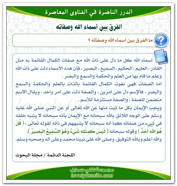 حكم من يسمي بـ عبدالرسول وعبدالنبي + الفرق بين أسماء الله وصفاته