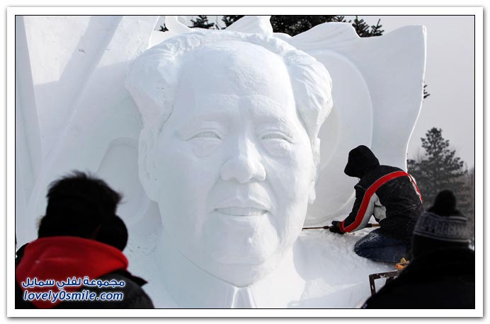 صور مهرجان نحت الجليد والثلوج في مدينة هاربين في الصين