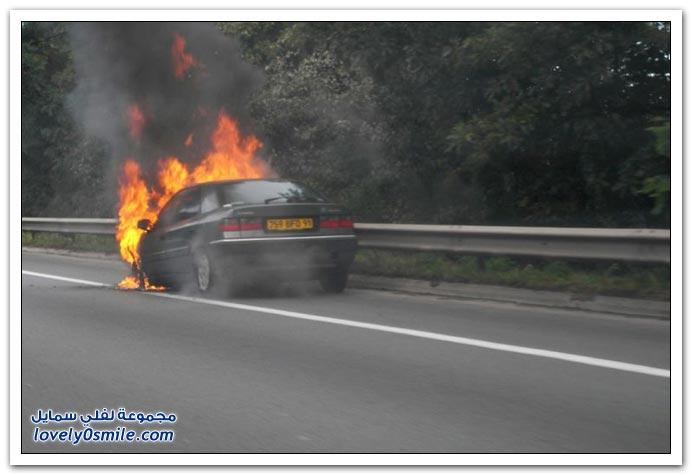 حرائق سيارات