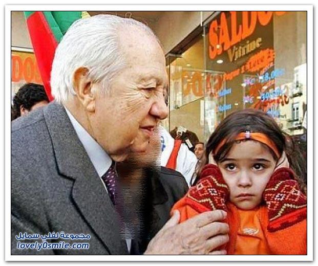 صور: شاهد ردة فعل الأطفال مع السياسيين