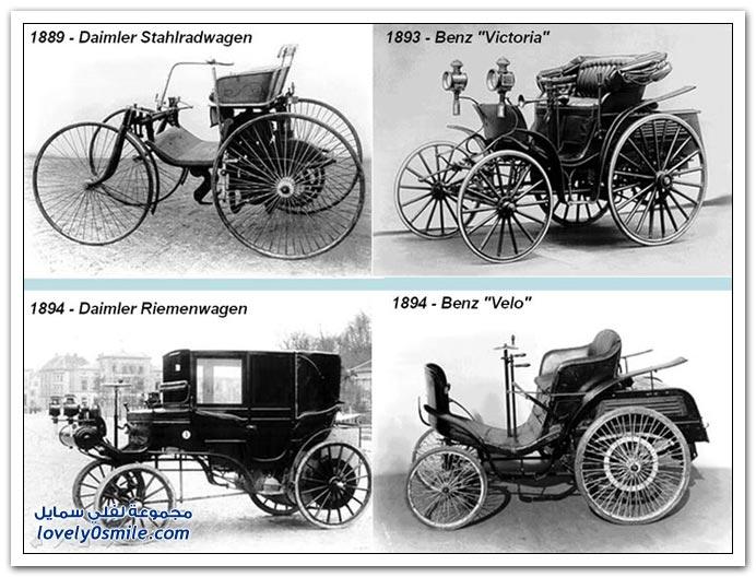 صور المرسيدس من عام 1886 إلى 2010