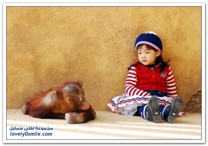 صور: لحظة من حديقة الحيوانات