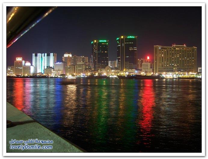صور من مدينة دبي ليلا