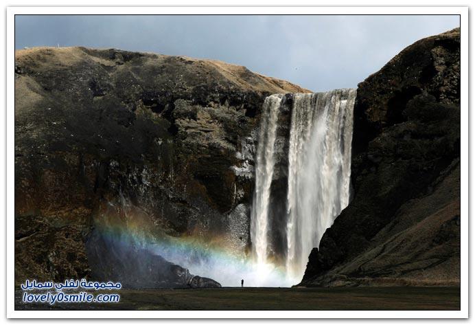 صور الرماد والسحب البركانية لبركان أيسلندا