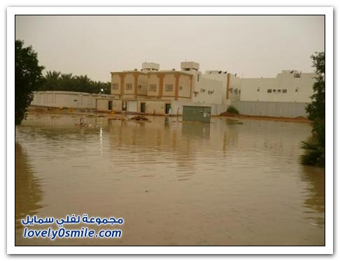 صور لسيول  وأمطار الرياض ليوم الإثنين 3-5-2010