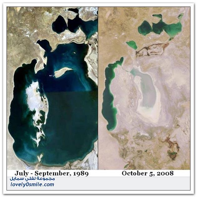 صور لجفاف بعض البحيرات