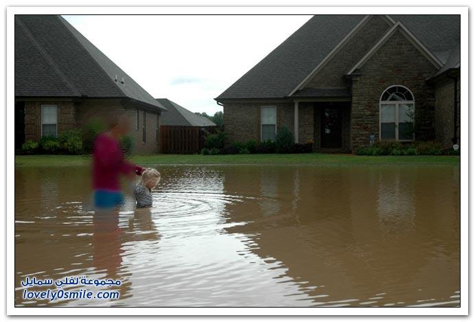 صور فيضانات ,إللي يشوف مصيبة غيره تهون عليه مصيبته