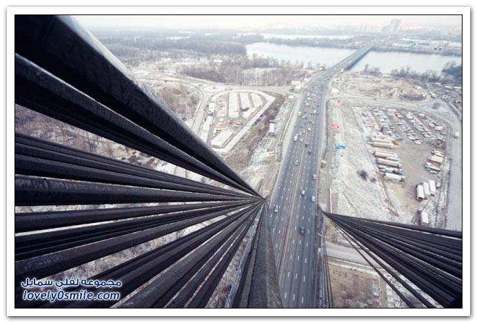 جسر موسكو في كييف عاصمة أوكرانيا