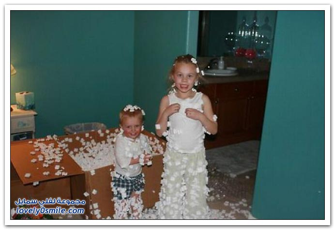 صور: الأطفال وما ينتج من لعبهم