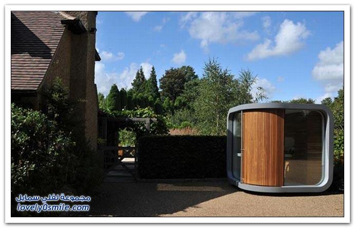 صور: إذا أردت مكتب مستقل في حديقة منزلك