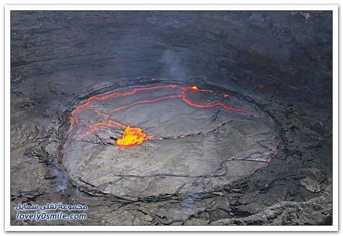 صور بحيرة الحمم من بركان أثيوبيا