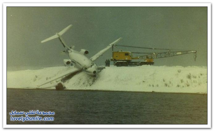 صور حادث طائرة ركاب