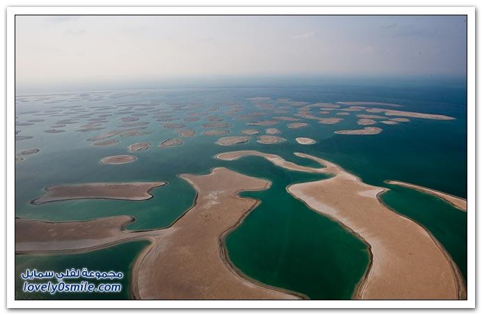 صور لرحلة بطائرة مروحية فوق مدينة دبي