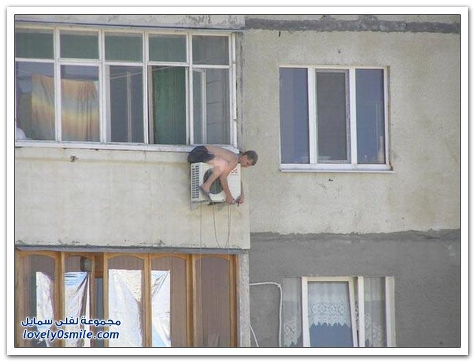 صور: شكلهم لم يسمعوا بوسائل السلامة أثناء العمل