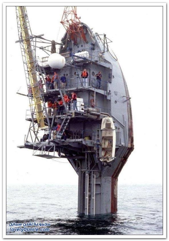 صور سفينة عملاقة تشبه فرشاة الأسنان تستخدم للأبحاث العلمية
