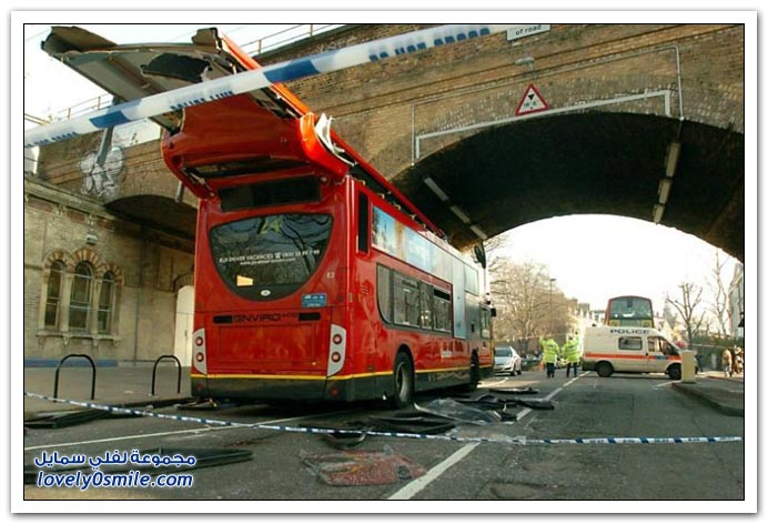 صور حادث باص