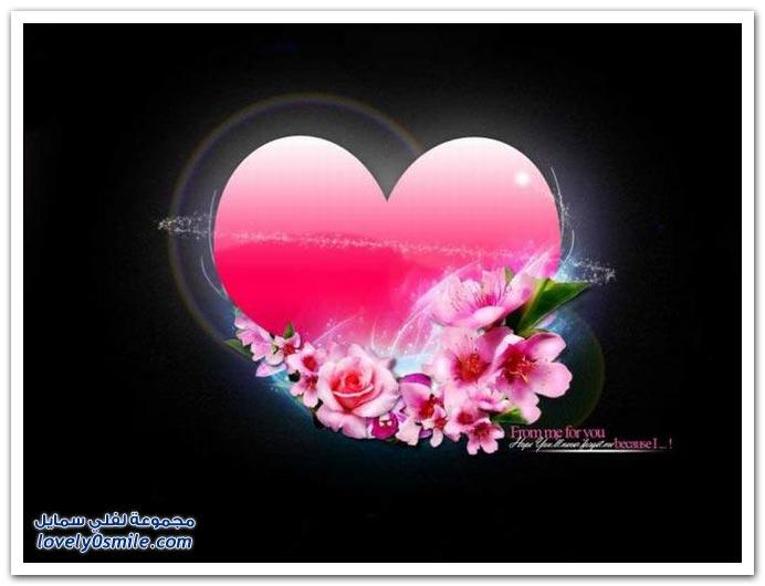صور قلوب أشكال وألوان