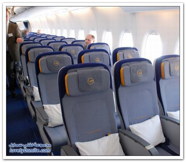 من داخل طائرة ايرباص A380 الجديدة لخطوط لوفتهانزا