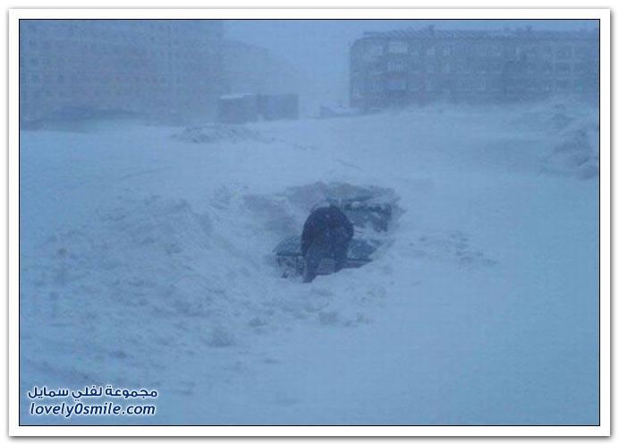 صور: فقط في روسيا دفن السيارات