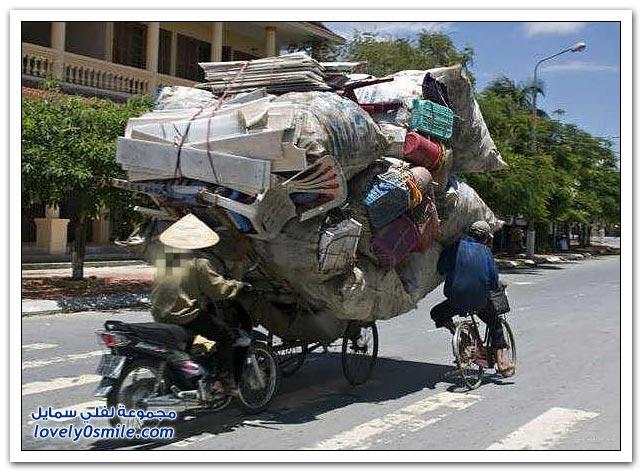 الدراجات وما يمكن أن تحمل