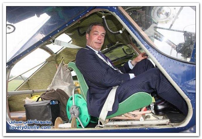 صور طريقة الدعاية عند أحد المرشحين في انتخابات بريطانيا نهايتها جاب العيد